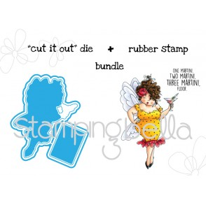 "EDNA needs a MARTINI ""CUT IT OUT"" DIE + RUBBER STAMP BUNDLE (save 15%)"